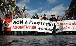 Manifestation contre l'austérité à Paris, le 13 décembre 2011.