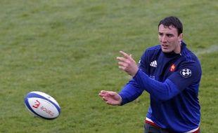 Louis Picamoles lors d'un entraînement du XV de France au Centre national du rugby de Marcoussis, en Essonne, le 6 février 2016.