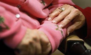 Illustration d'un patient atteint de la maladie d'Alzheimer.