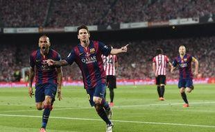 Leo Messi après son but fantastique en finale de Coupe du Roi contre Bilbao, le 30 mai 2015.