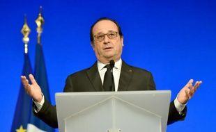 Le président François Hollande, le 16 janvier 2016 à Tulle