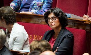 La ministre du Travail Myriam El Khomri, le 28 septembre 2016 à l'Assemblée nationale.