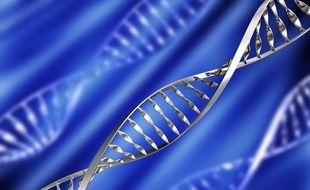 Illustration d'un brin d'ADN.