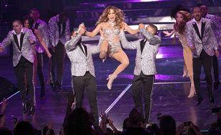 Jennifer Lopez en concert à Las Vegas, le 20 janvier 2016.