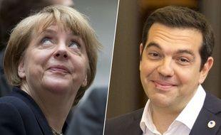 La chancelière allemande Angela Merkel et le Premier ministre grec, Alexis Tsipras.