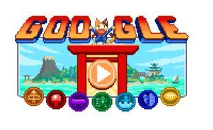 Google célèbre le lancement des Jeux Olympiques au Japon.