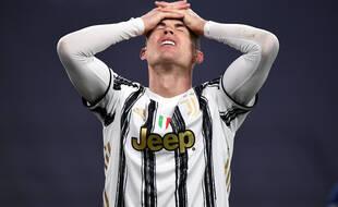 Cristiano Ronaldo lors du match de la Juventus contre le FC Porto en Ligue des champions, à Turin le 9 mars 2021.