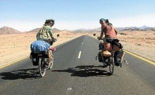 Claire Poirel et Jérémie Bonamant ont traversé 22 pays, dont le Soudan ici en février dernier.