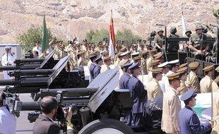Cérémonie funéraire de trois hauts responsables du régime syrien, à Damas, le 20 juillet 2012.