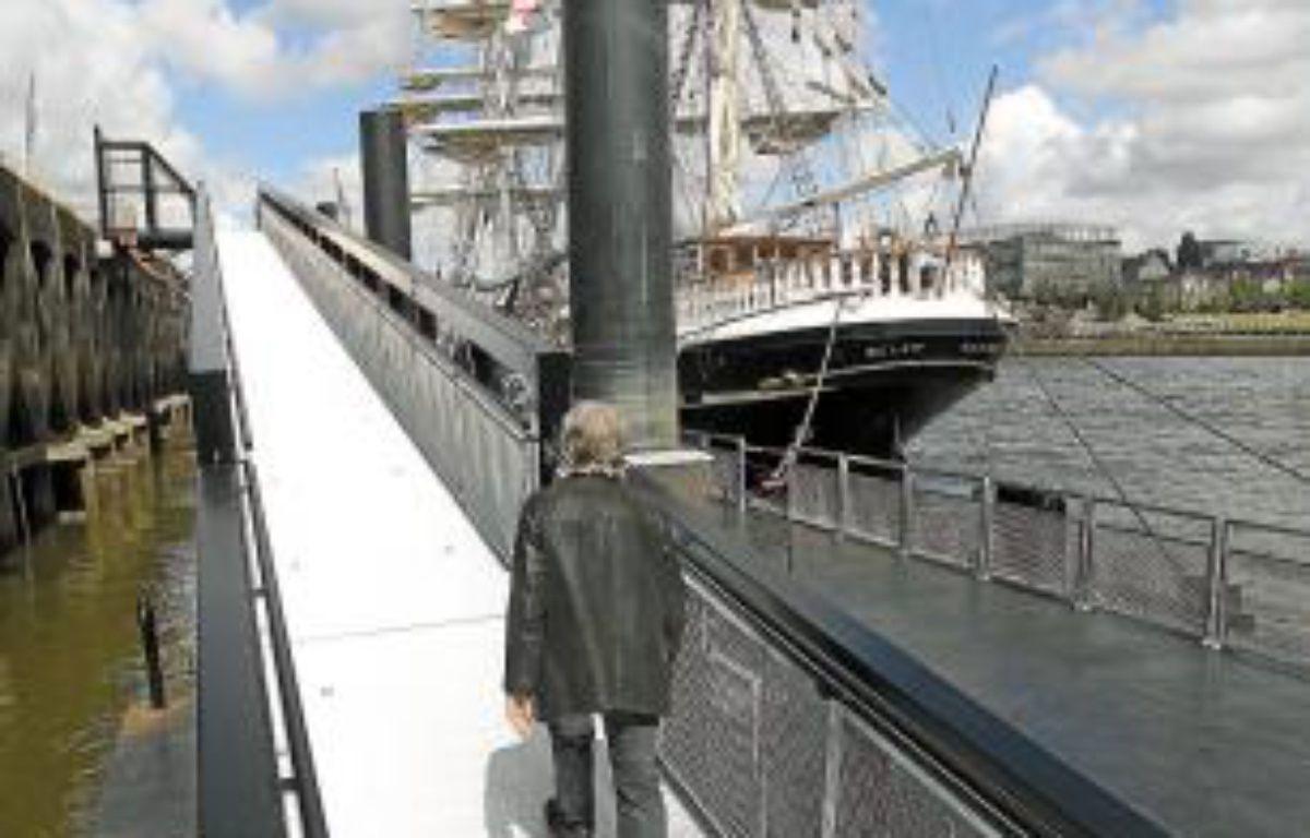 Le ponton est collé au quai de la Fosse. –  F. Elsner/20 Minutes