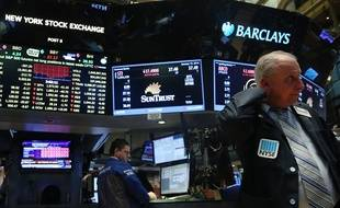 Des traders à la bourse de New York.