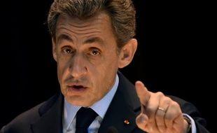L'ex-président Nicolas Sarkozy, le 29 octobre 2015 fait un discours devant les étudiants du MGIMO, le prestigieux institut des relations internationales de Moscou