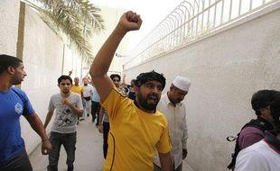 Des manifestants à Manama, capitale du Bahrein, le 19 avril 2012