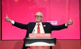 Jeremy Corbyn, leader des travaillistes, lors d'un meeting à Birmingham, le 21 novembre 2019.