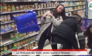 L'entreprise Il était un fruit a détourné les images d'émeute de consommateurs s'arrachant des pots de Nutella