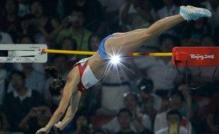 Yelena Isinbayeva Chez les femmes, Yelena Isinbayeva a volé la vedette à toutes les concurrentes. Cette fille-là a quelque chose en plus.