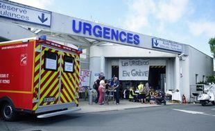 Les urgences en grève au CHU de la Rochelle, en juillet 2019.