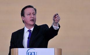 Le Premier ministre britannique David Cameron lors de son discours sur l'indépendance écossaise, le 7 février 2014.