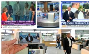 Sur les plateaux d'iTélé, LCi, BFMTV et Franceinfo.