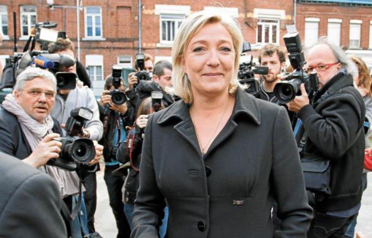 Le faux tract du Front national, représenté par Marine Le Pen, a fait monter la tension dans la circonscription. –  M.Libert / 20 Minutes