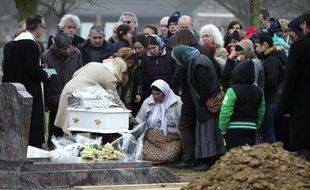 Funérailles de Maria Francesca au cimetière de Wissous, à sept kilomètres de Champlan (Essone), le 5 janvier 2015