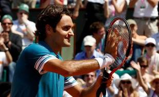 Roger Federer, le 24 mai 2010 à Roland-Garros.