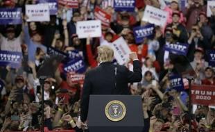 Donald Trump lors d'un meeting politique à Green Bay, dans le Wisconsin, le 27 avril 2019.