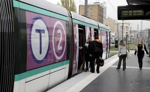 Tramway T2 à Paris (illustration).