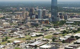 Vue aérienne du centre d'Oklahoma City, dans l'Oklahoma, le 16 juillet 2015