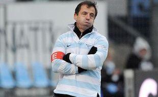 L'entraineur du Racing Metro Pierre Berbizier le 3 janvier 2010 à Colombes.