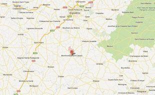 Google Maps de Montmoreau-Saint-Cybard (Charente).