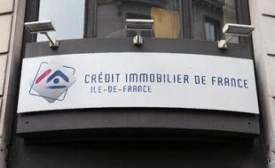 La devanture d'une agence du Crédit Immobilier de France (CIF) à Paris
