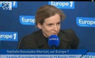 Capture d'écran d'une interview de Nathalie Kosciusko-Morizet du 25 février 2012