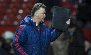 Le coach de Manchester United, Louis van Gaal, lors de MU-Chelsea (1-1) le 7 février 2016.