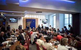 Commission des Affaires sociales, Assemblée nationale, Paris, le 4 Juillet 2017. Credit:NICOLAS MESSYASZ/SIPA