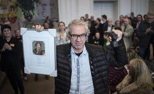 """L'artiste suédois Lars Vilks reçoit le prix danois """"Liberté de la presse"""", le 14 mars 2015 à Copenhagen"""