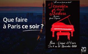 Gérard Depardieu chante Barbara au Cirque d'hiver.