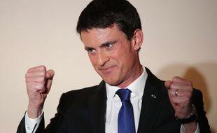 L'ex-Premier ministre Manuel Valls au soir de sa défaite à la primaire PS le 29 janvier 2017 à Paris