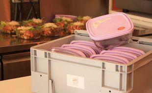 """A Toulouse, plus de 10.000 contenants en verre consignés de """"En boîte le plat"""" sont en circulation pour la vente à emporter."""