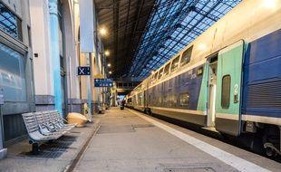 La gare de Lyon Perrache à Lyon, le 8 avril 2018.