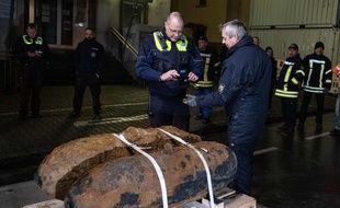 Les bombes de la Seconde Guerre mondiale retrouvées à Dortmund (Allemagne), le 12 janvier 2020.