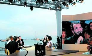 Le plateau de Canal + à Cannes.