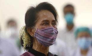 Aung San Suu Kyi à Naypyidaw, capitale de la Birmanie, le 27 janvier 2021.