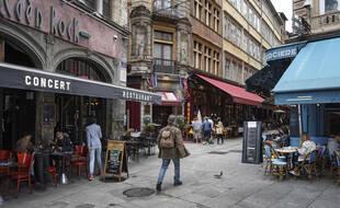 Une rue piétonne à Lyon.