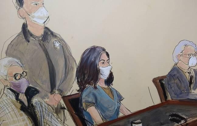 648x415 ghislaine maxwell assise au centre lors d une audition devant la cour federale a new york le 23