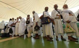 Des pèlerins à l'aéroport de Djeddah Arabie Saoudite, le 7 septembre 2015