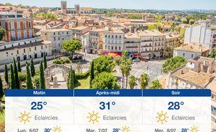 Météo Montpellier: Prévisions du dimanche 5 juillet 2020