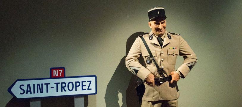 Vue de l'exposition Louis de Funès à la Cinémathèque de Paris en juillet 2020