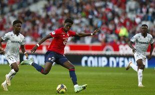 Amadou Onana et Lille face à Reims.