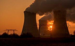 La centrale nucléaire de Dampierre (Loiret) en janvier 2017.
